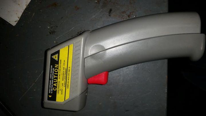 Laser radiation gun