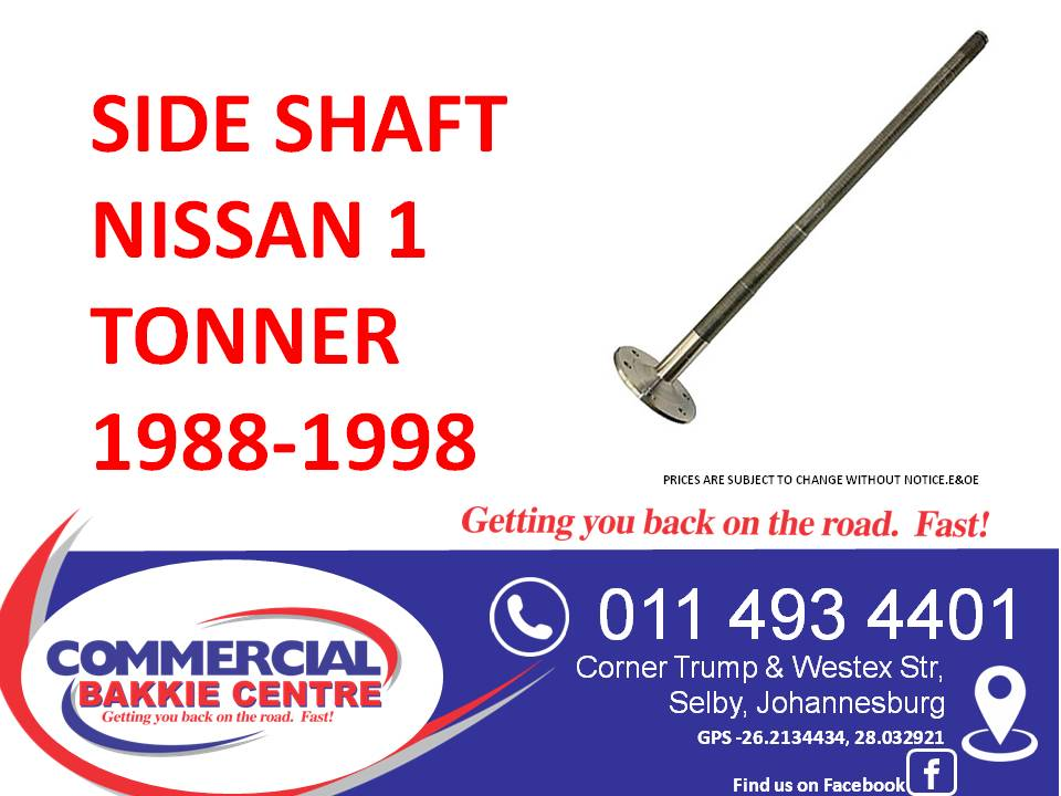 side shaft nissan 1 tonner 1988-1998