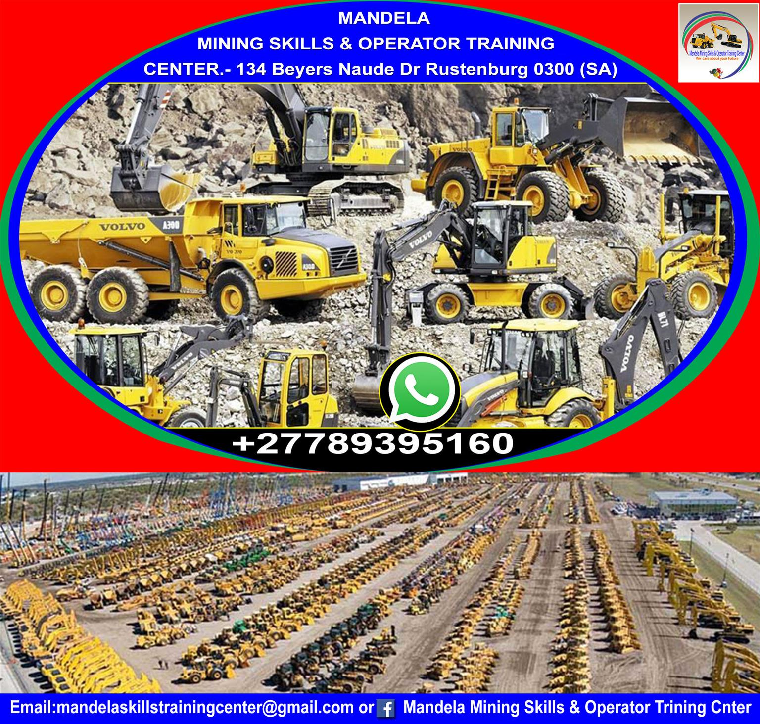 MANDELA MINING SKILLS & OPERATOR TRAININ CENTER SOUTH AFRICA + 27789395160