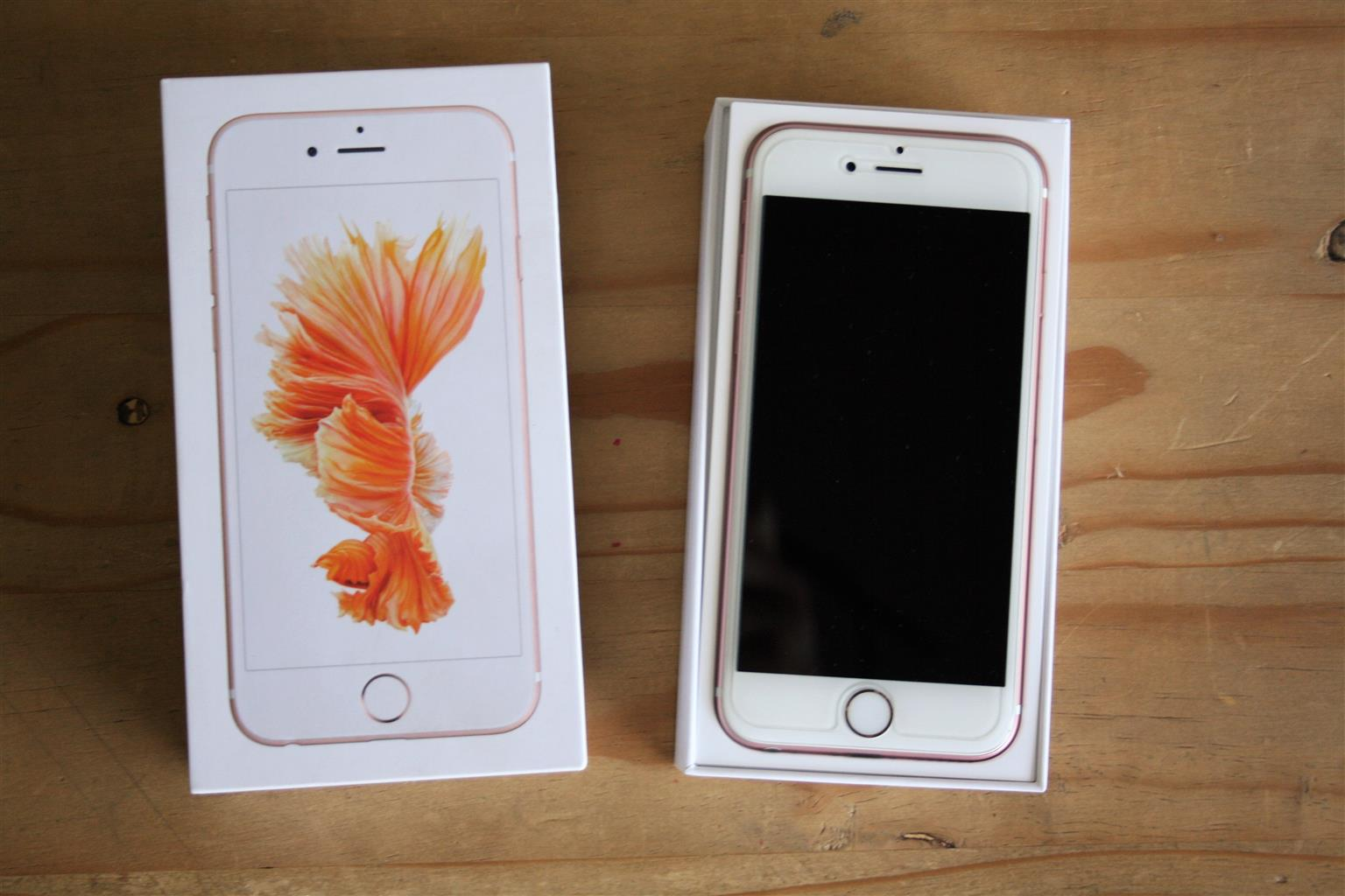 Rose Gold iPhone 6S [64GB] - including glass screen protector and four (4) covers